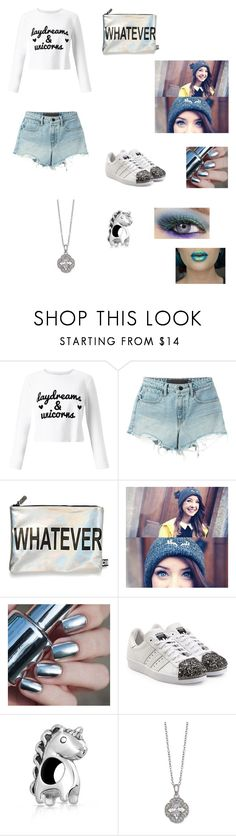"""""""All in a fantasy"""" by celinelu-1 ❤ liked on Polyvore featuring Miss Selfridge, T By Alexander Wang, Circus By Sam Edelman, adidas Originals, Bling Jewelry, Giani Bernini and Urban Decay"""