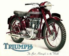 Vintage Motorcycles The Triumph Speed Twin British Motorcycles, Triumph Motorcycles, Vintage Motorcycles, Custom Motorcycles, Triumph Motorbikes, Triumph Bikes, Triumph Bonneville, Bsa Motorcycle, Motorcycle Posters