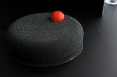 Black velour cake