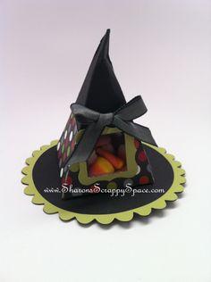 Halloween Witch Hat Treat Holder Sharon White