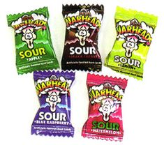 Warheads :) I remember my brother stuffing 20 of these in his mouth at once and then puking