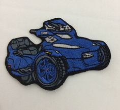 Can Am Spyder Motorcycles Patch Blue Spyder RT Roadster Small  | eBay