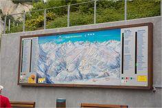 Ski map in Serfaus – near Hotel Cervosa - my way visiting Almhütte Cervosa Alm - at Serfaus-Fiss-Ladis Region in Austria / Österreich - Tyrol / Tirol