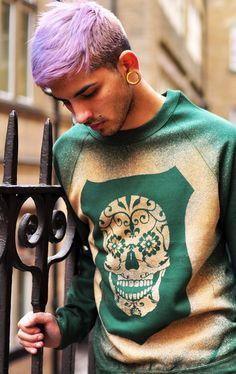 Lavender colored #man #hair #cutie