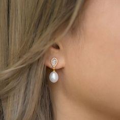 Pearl Earrings Wedding, Pearl And Diamond Earrings, Bride Earrings, Silver Drop Earrings, Dangle Earrings, Fancy Earrings, Bridesmaid Earrings, Bridal Bracelet, Bridal Jewelry