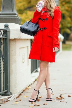 red kate spade toggle coat | stuart weitzman ankle strap heels | kate spade bag | how to style a red coat | red coat fashion tips | how to wear a red coat | dressy red coat | winter coats | winter style tips | winter fashion tips | cold weather fashion for women || a lonestar state of southern #redcoat #wintercoat #winterstyle