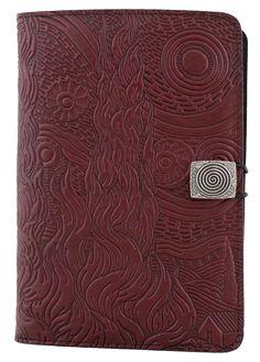 Leather iPad Mini Cover Case | Van Gogh Sky in Wine
