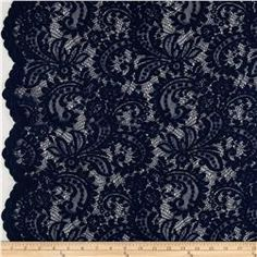 Amelia Stretch Lace Navy