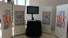 """""""Say Oui to France"""" corner at the EmTech in Boston.  www.sayouitofrance-innovation.com"""
