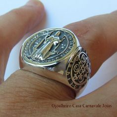 St Benedict Cross, Chi Rho, Poison Ring, Gothic Rings, Sterling Silver Mens Rings, My Gems, Spiritual Jewelry, Ring Bracelet, Fashion Watches