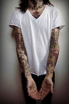 arms hands tattoos hand inked tattoo ink tattooed neck inkd body modification sleeve arm sleeves modification chest inked guy
