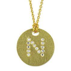 "Roberto Coin 18k Diamond ""N"" nekclace from Borsheims for $620."