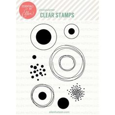 I am so completely in love with this Bokeh Dots stamp set designed by @JulieEbersole for @ellenhutsonllc . #EssentialsbyEllen