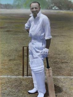 Sir Don Bradman, One Of Australia's Own Cricket Hero's. World Cricket, Test Cricket, Sachin Tendulkar, Star Wars, Sports Stars, South Australia, Famous People, Nostalgia, Hero