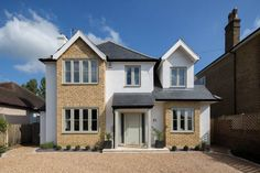 Amazing house transformation: Modern Houses by Holland and Green – Home decoration ideas and garde ideas House Extension Plans, House Extension Design, House Design, Extension Ideas, 1930s House Exterior, Exterior Windows, Upvc Windows, Aluminium Windows, 1930s House Renovation