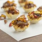Caramelized Onion, Apple, and Mushroom Brie Cups