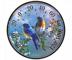 Bluebird Round Outdoor Thermometer