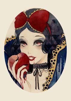 Vampire Snow White - Print by LoveisSoup