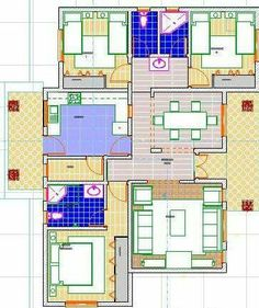 Small Modern House Plans, Simple House Plans, Beautiful House Plans, Family House Plans, Modern Residential Architecture, Residential Building Design, House Architecture, Drawing House Plans, Free House Plans