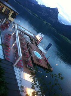 Wolfgangsee, Austria (pool of the Hotel Weisses Rössl)