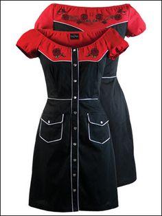 *I don't know why, but I like it....Western Rockabilly Dress