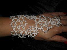 Weddings tatted bracelets pair by carmentatting on Etsy, $45.00
