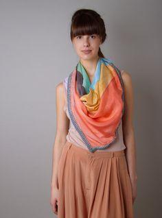 rhombus silk scarf