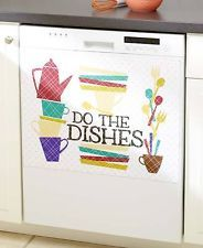 Vintage Colorful Retro Dishwasher Magnet Cover Colored Humorous Magnetic Cover