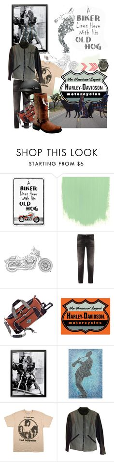 """Black Dog"" by vallyk ❤ liked on Polyvore featuring Harley-Davidson, Nudie Jeans Co., Athalon, CO, NOVICA, men's fashion, menswear and HarleyDavidson"