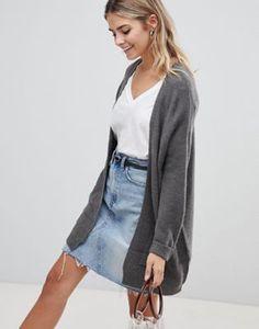 e93af7a8b4 JDY   JDY Corinne long open cardigan Open Cardigan, Denim Skirt, Fashion  Online,