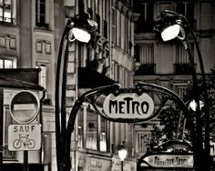 paris metro ++ the paris print shop