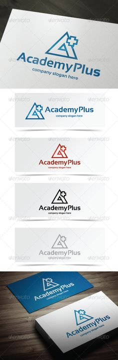 Academy Plus - Logo Design Template Vector #logotype Download it here: http://graphicriver.net/item/academy-plus/5404401?s_rank=1781?ref=nesto