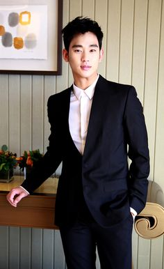 """Kim Soo Hyun's Post-""""You Who Came From The Stars"""" Interview Photos   Couch Kimchi"""