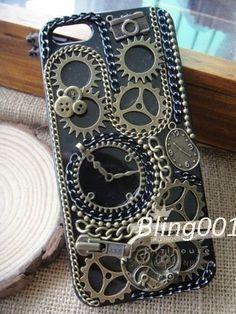 punk iphone case time machine iPhone 5 case steam punk by Bling001, $19.99