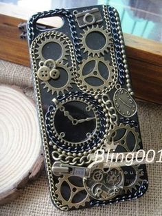 punk iphone case time machine iPhone 5 case steam punk by Bling001, $19.99