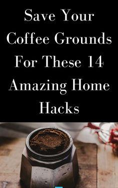 Home Hacks, Diy Hacks, Uses For Coffee Grounds, Coffee Crafts, Coffee Filters, Diy Food, Home Goods, Cricut, Diy Crafts