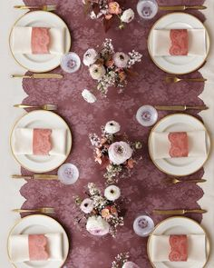 """Finer Dining - """"Fancy linens, watch out! Humble building paper goes haute couture when it's overlaid with Chantilly lace. At three feet wide, red rosin paper (lifeandhome.com) is an ideal size for a table. The napkin holders are made from yatsuo paper (hiromipaper.com); For scalloped edges, cut carefully around the curvy design.""""  Get the Lace Table Runner How-To"""