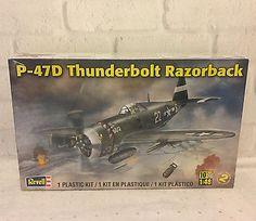 Revell WWII USAF P-47D Thunderbolt Razorback 1:48 Scale Plastic Model Kit