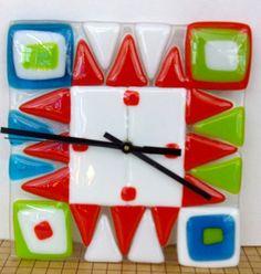 fused glass clock