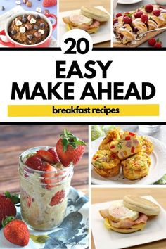 Have company coming over or are looking for the perfect brunch recipe? Then try these makehead breakfast recipes you need to try! Healthy Make Ahead Breakfast, Healthy Family Meals, Healthy Recipes, Family Recipes, Brunch Recipes, Breakfast Recipes, Dessert Recipes, Desserts, I Love Food