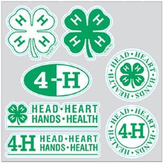 4-hmall.org - Product: 4-H Clovers and Logos Wall Stickers
