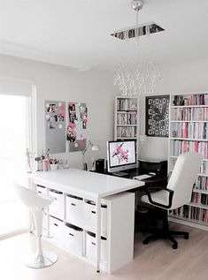 71 best Refined Feminine Home Office Decor Ideas images on Pinterest ...