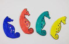 Blog - Wummelkiste - Basteltipp: Pappteller-Seepferdchen