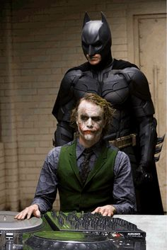 Batman getting down with his main man