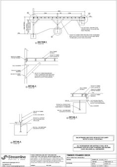 Timber Deck Floor Plan Footing Layout Amp Section Studio