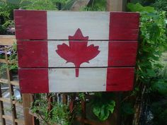Reclaimed Wood Flag, Canadian Maple Leaf, Wooden Wall Hanging, Handmade Canada Flag red and white, Oh Canada Canada Party, Canadian Maple Leaf, Wood Flag, Happy Canada Day, Pallet Art, Hand Painted, Painted Wood, Wood Wall Art, Home Crafts