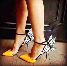 FASHION BUTTERFLY WINGS POINTED HIGH HEEL ShOES GBK41930DC
