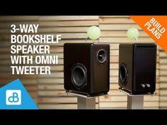 3-Way Bookshelf SPEAKER BUILD with Omni-Tweeter - by SoundBlab - YouTube Bookshelf Speakers, Built In Speakers, Stereo Speakers, Bookshelves, Dayton Audio, Speaker Plans, Vintage Diy, Boombox, How To Plan
