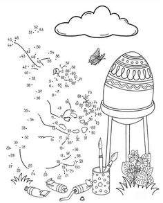 Easter Coloring Pictures, Easter Colouring, Easter Colors, Connect The Dots, Any Images, Teaching English, Coloring Pages, Activities, Education