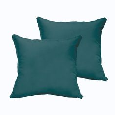 Sloane Teal 20 x 20-inch Indoor/ Outdoor Flange Edge Pillow Set